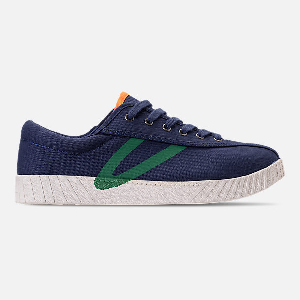 Right view of Men's Tretorn Nylite XAB3 Casual Shoes in Royal/Teal/White/Neon Orange
