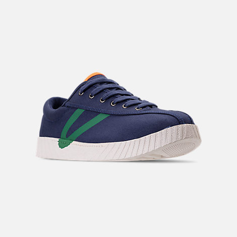 Three Quarter view of Men's Tretorn Nylite XAB3 Casual Shoes in Royal/Teal/White/Neon Orange