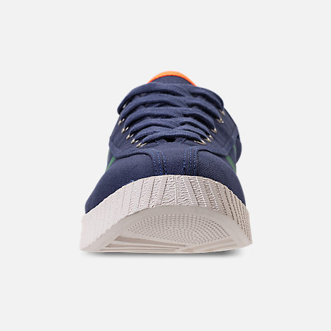 Front view of Men's Tretorn Nylite XAB3 Casual Shoes in Royal/Teal/White/Neon Orange