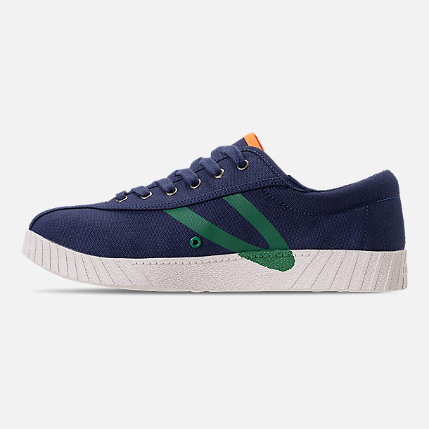 Left view of Men's Tretorn Nylite XAB3 Casual Shoes in Royal/Teal/White/Neon Orange