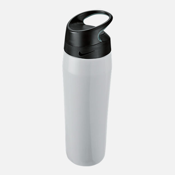 Back view of Nike Stainless Steel HyperCharge Twist Elite Water Bottle- 24oz
