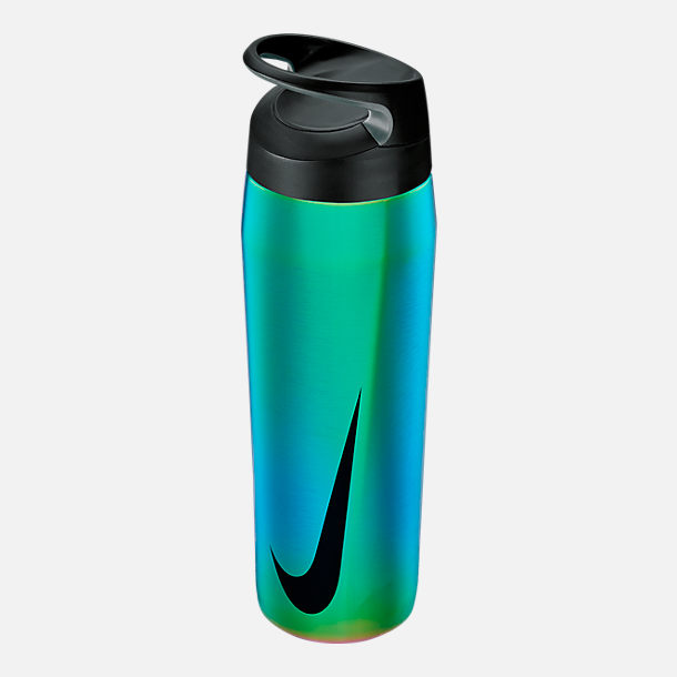 Front view of Nike Stainless Steel HyperCharge Twist Elite Water Bottle- 24oz in Multicolor/Anthracite