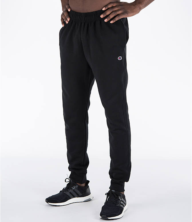 Detail 1 view of Men's Champion Powerblend Jogger Pants in Black