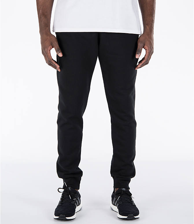 Front view of Men's Champion Powerblend Jogger Pants in Black