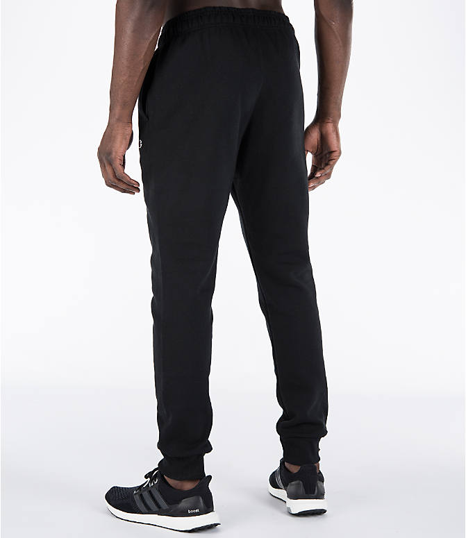 Back Left view of Men's Champion Powerblend Jogger Pants in Black