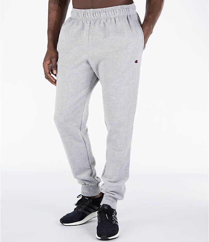 Detail 1 view of Men's Champion Powerblend Jogger Pants in Oxford Grey