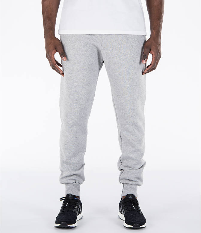Front view of Men's Champion Powerblend Jogger Pants in Oxford Grey