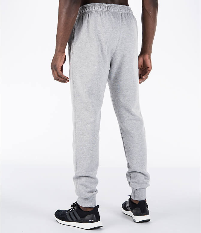 Back Left view of Men's Champion Powerblend Jogger Pants in Oxford Grey