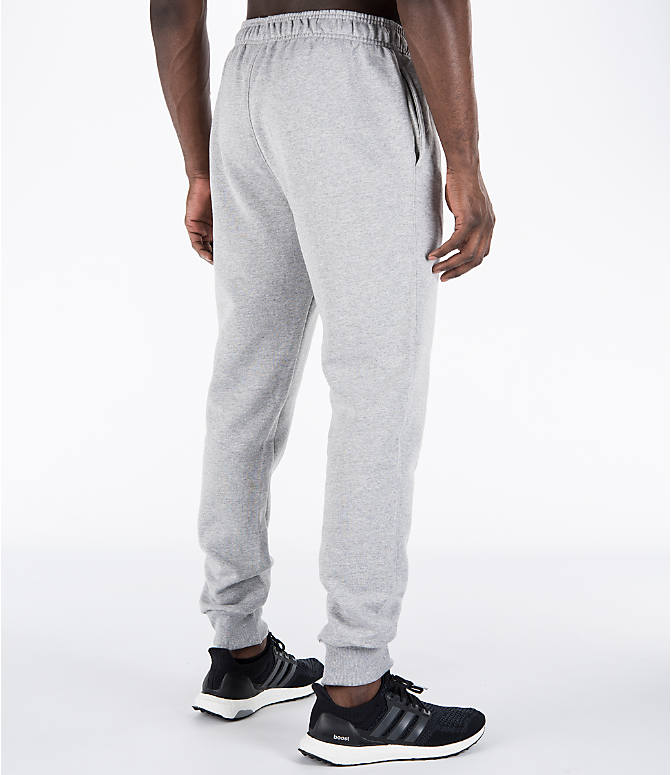 Back Right view of Men's Champion Powerblend Jogger Pants in Oxford Grey