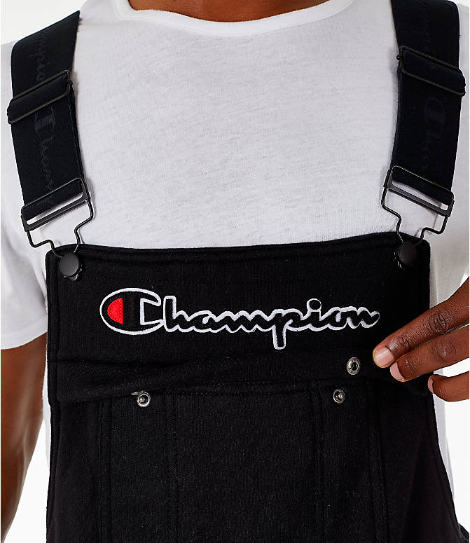 Detail 1 view of Men's Champion Super Fleece Overalls in Black