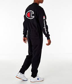 Men's Champion Super Fleece Coverall Jumpsuit