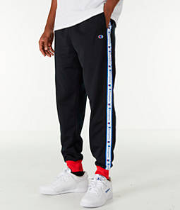 Men's Champion Side Tape Track Jogger Pants