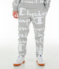 Men's Champion Reverse Weave Allover Print Large Script Jogger Pants