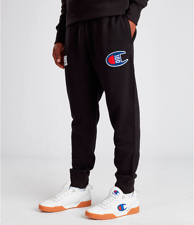 Front view of Men's Champion Century Collection Jogger Pants in Black