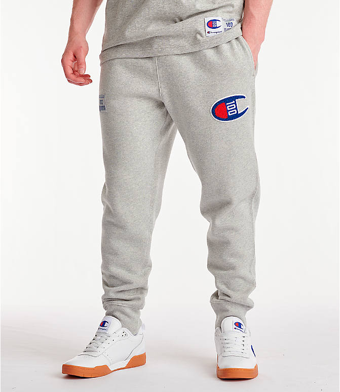 Front view of Men's Champion Century Collection Jogger Pants in Oxford Grey