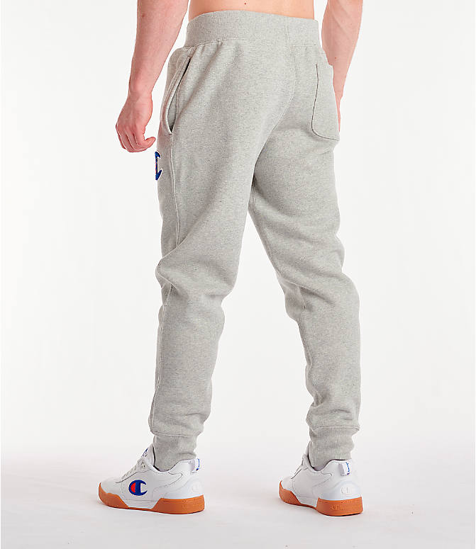 Back Left view of Men's Champion Century Collection Jogger Pants in Oxford Grey
