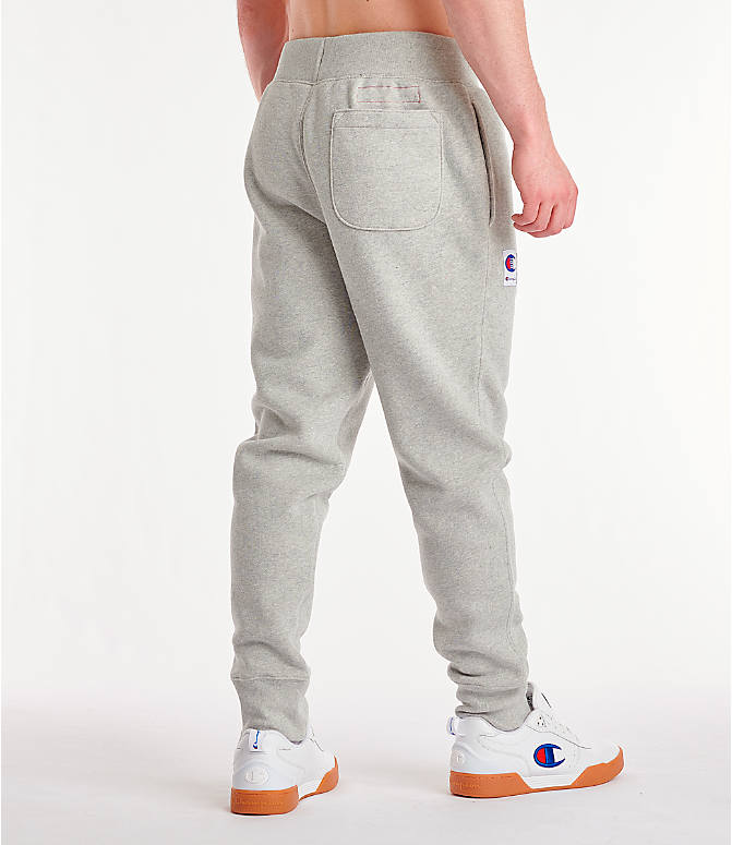 Back Right view of Men's Champion Century Collection Jogger Pants in Oxford Grey