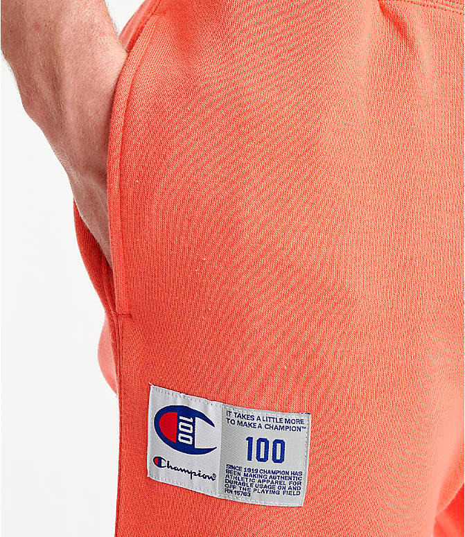 Detail 2 view of Men's Champion Century Collection Jogger Pants in Groovy Papaya