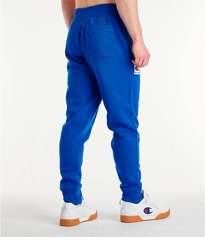 Back Right view of Men's Champion Century Collection Jogger Pants in Surf the Web