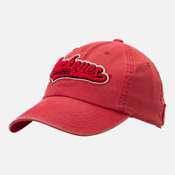 Front view of Top of the World Ohio State Buckeyes College Heritage Park Adjustable Back Hat in Team Colors