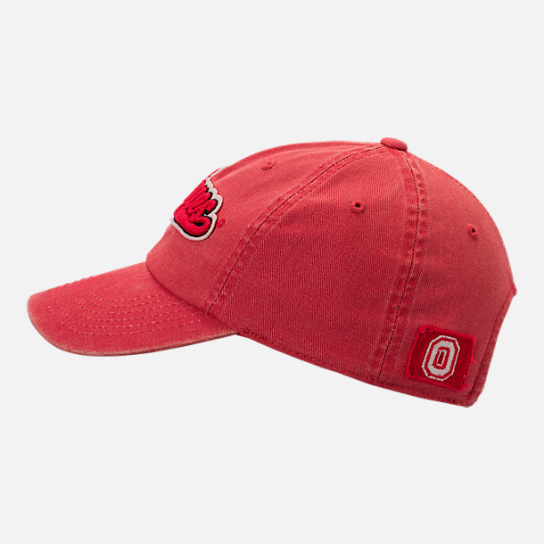 Back view of Top of the World Ohio State Buckeyes College Heritage Park Adjustable Back Hat in Team Colors