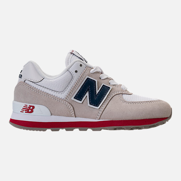 Right view of Boys' Little Kids' New Balance 574 Casual Shoes in Nimbus Cloud/Navy