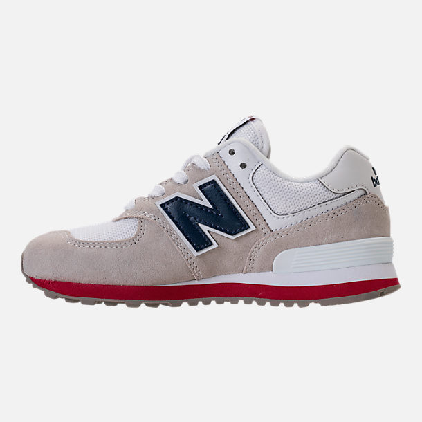 Left view of Boys' Little Kids' New Balance 574 Casual Shoes in Nimbus Cloud/Navy