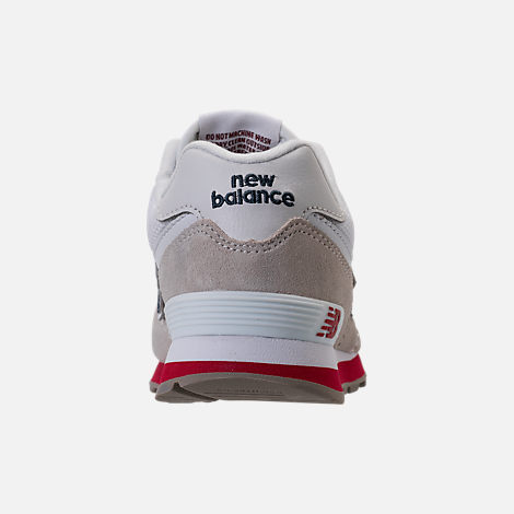 Back view of Boys' Little Kids' New Balance 574 Casual Shoes in Nimbus Cloud/Navy