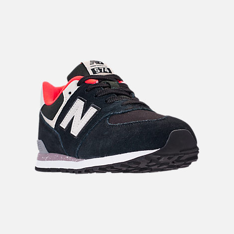Three Quarter view of Boys' Preschool New Balance 574 Casual Running Shoes