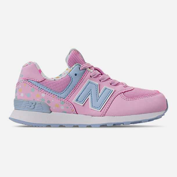 403f638efcb2e Right view of Girls' Little Kids' New Balance 574 Casual Shoes in Rose/