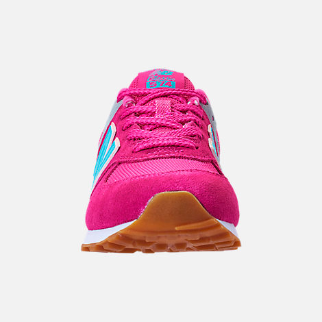 Front view of Girls' Preschool New Balance 574 Casual Shoes