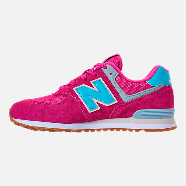 Left view of Girls' Preschool New Balance 574 Casual Shoes