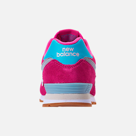 Back view of Girls' Preschool New Balance 574 Casual Shoes