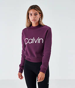 Women's Calvin Klein Mock Pullover Sweatshirt