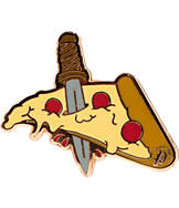 Pin God Pizza Dagger Enamel Pin