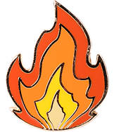 Pin God The Flame Enamel Pin