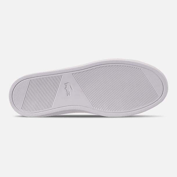Bottom view of Men's Lacoste Le Piqué Knit Casual Shoes in Black/White