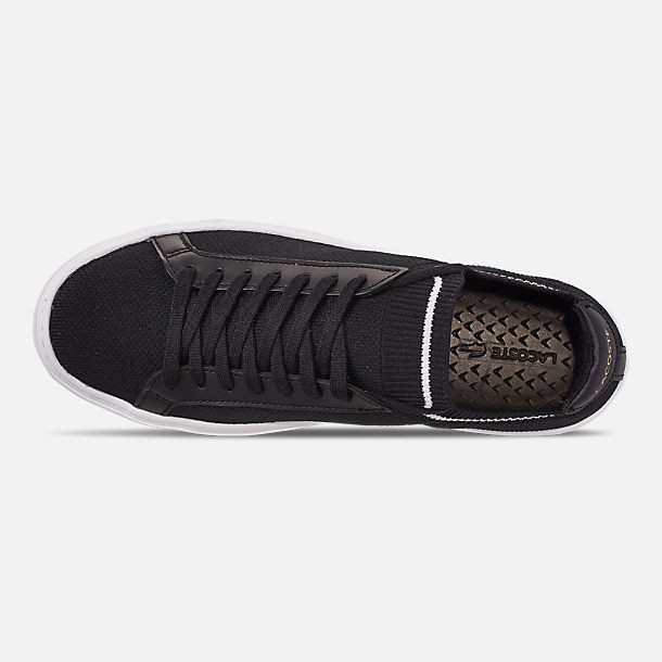 4b46975335d5 Top view of Men s Lacoste Le Piqué Knit Casual Shoes in Black White