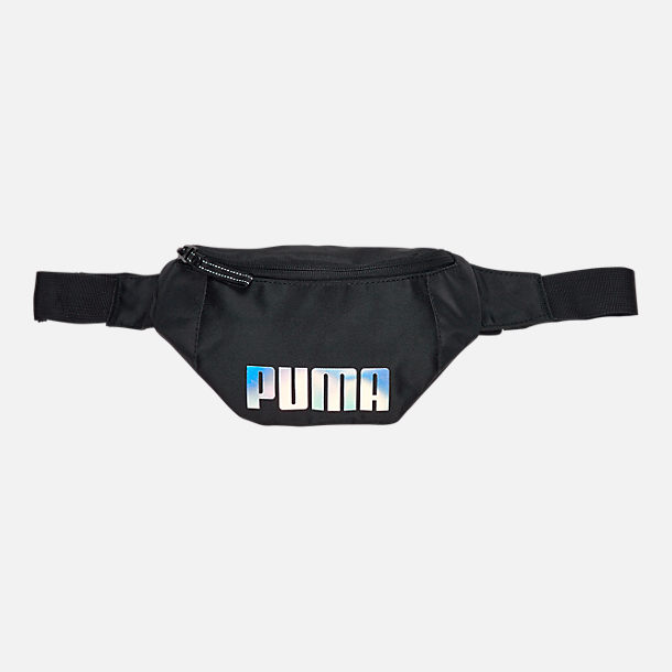 Front view of Women's Puma Forever Waist Pack in Black