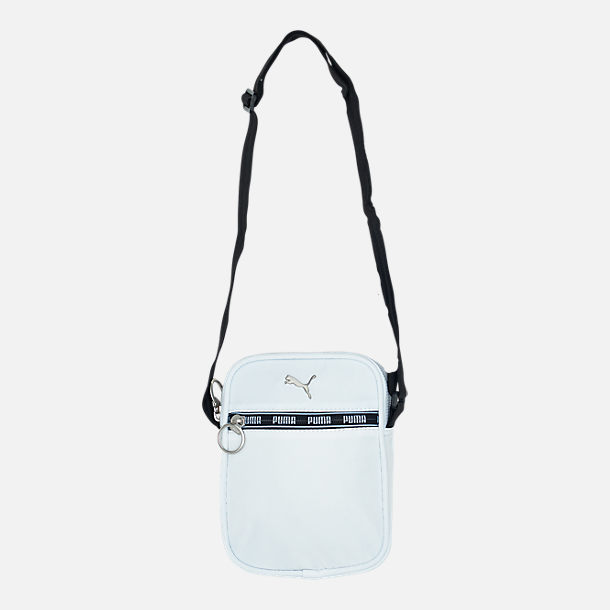Front view of Puma Mini Series Crossbody Bag in White