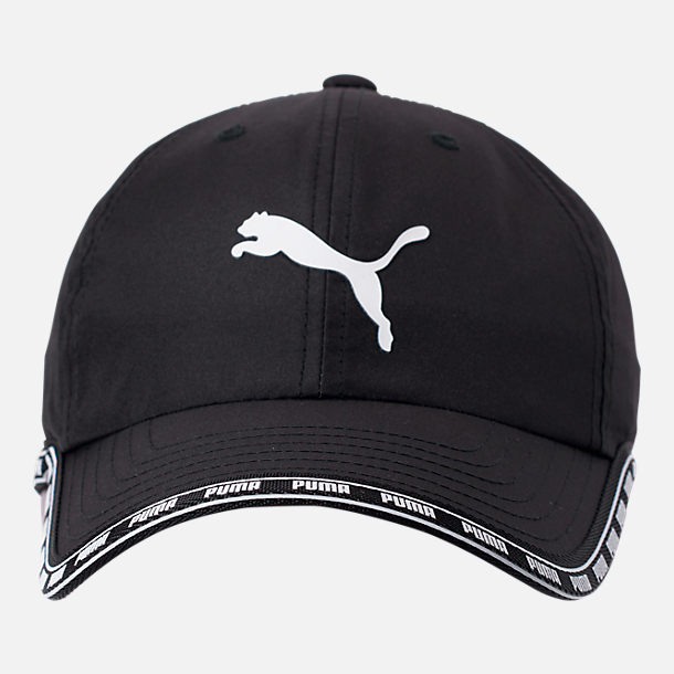 Back view of Puma Greta Adjustable Hat in Black/White