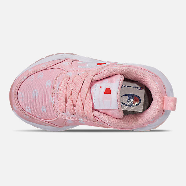 6a4d6b9060617e Top view of Girls  Toddler Champion 93Eighteen Queen C Casual Shoes in Pink  White