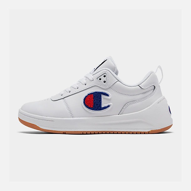 7a6934d7b07dd4 Right view of Boys  Big Kids  Champion BB Court Classic Casual Shoes in  White