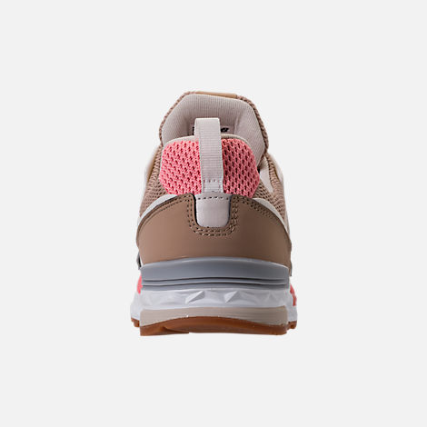 Back view of Girls' Little Kids' New Balance 574 Sport Casual Shoes in Hemp/Dusted Peach
