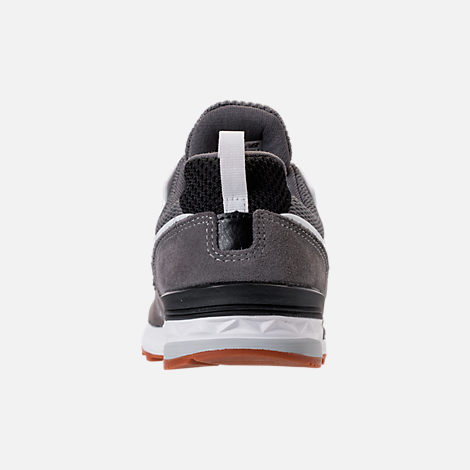 Back view of Boys' Preschool New Balance 574 Sport Casual Shoes in Grey/Black/White/Gum