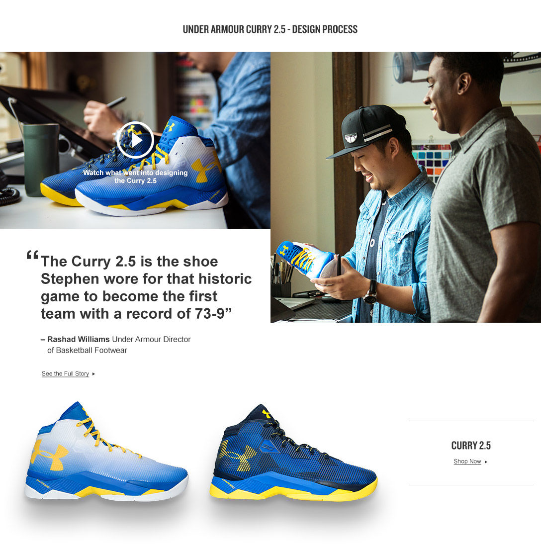 Under Armour Curry 2.5 - Design Process