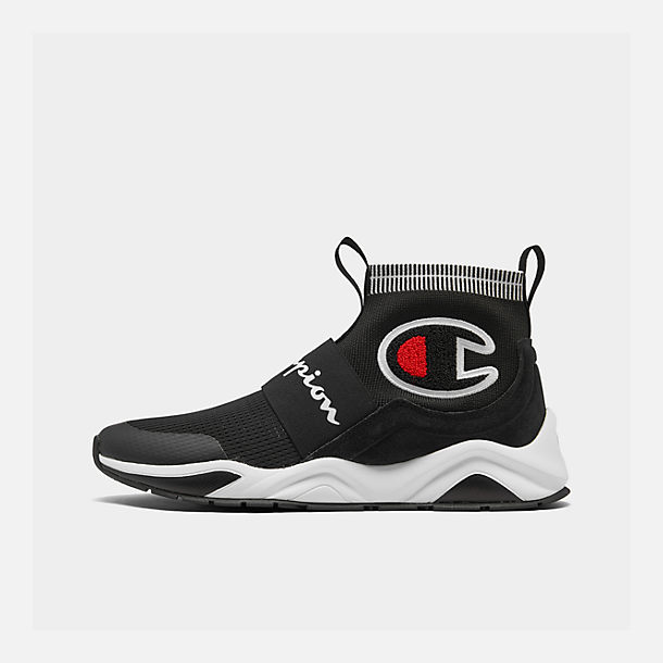 Right view of Men's Champion Rally Pro Casual Shoes in Black