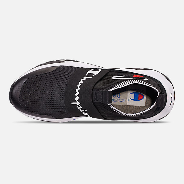 Top view of Men's Champion Rally Pro Casual Shoes in Black
