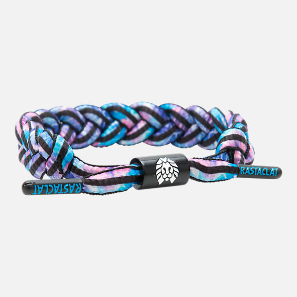 Front view of Rastaclat Classic Bracelet - Radical Paradise in Pink/Purple/Blue/Black