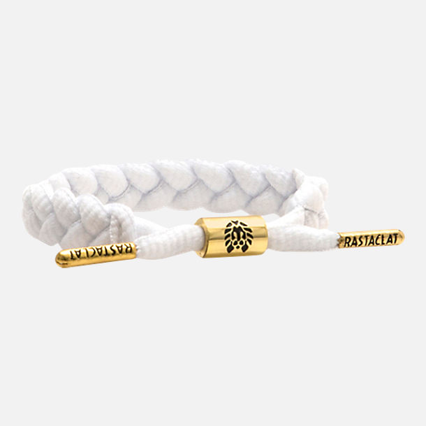 Front view of Rastaclat Classic Bracelet - Zion II in White/Gold